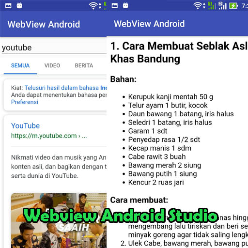 Membuat Web Browser Dengan Webview Android Studio